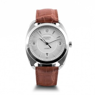 Hermes Dressage Grey Steel Watches
