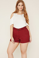 Forever 21 FOREVER 21+ Plus Size D-Ring Shorts