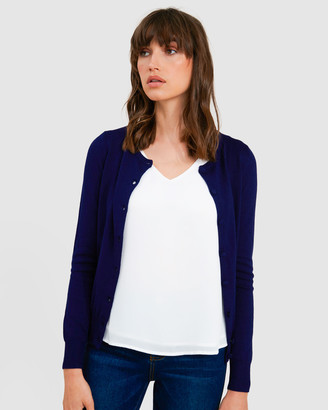 Forcast Women's Navy Cardigans - Rosaline Knitted Cardigan - Size One Size, S at The Iconic