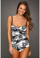 Tommy Bahama Paisley Foam Cup One-Piece Swimsuit (Black) - Apparel