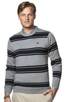 Chaps Big & Tall Classic-Fit Striped Crewneck Sweater
