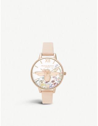 Olivia Burton OB16EG151 Enchanted Garden rose-gold ion-plated stainless steel watch