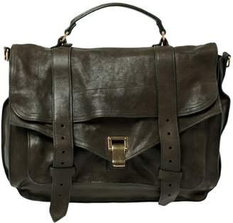 Proenza Schouler PS1 Green Leather Handbags