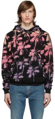 Saint Laurent Black Palm Print Hoodie