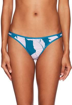 Hobie Junior's Fronds Forever Leaf Print Skimpy Hipster Bikini Bottom