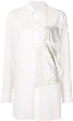 Y's Draped-Pocket Longline Shirt