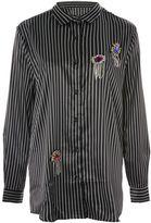 Jaded London **Oversized Pinstripe Satin Shirt