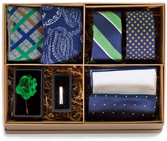 The Tie Bar The Green And Navy Style Box