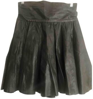 Cos Black Leather Skirt for Women