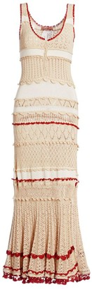 Altuzarra Herrik Crochet Knit Maxi Dress