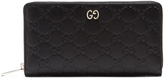 Gucci Dorian GG-debossed leather zip-around wallet