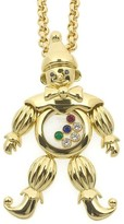 Chopard Happy Diamond Clown 18K Yellow Gold Ruby Emerald Sapphire Necklace