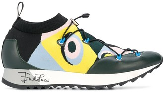 Emilio Pucci Occhi print sneakers