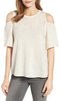 Velvet by Graham & Spencer Women's Cashmere Cold Shoulder Sweater