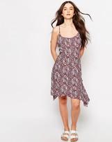 Brave Soul Printed Hanky Hem Dress