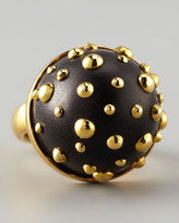 Karen London On a Roll Studded Ebony Dome Ring
