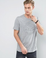 Converse T-shirt With Embossed Logo In Grey 10003650-a01