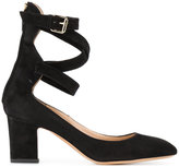 Valentino Garavani Valentino buckle strap court shoes - women - Leather/Suede - 35.5