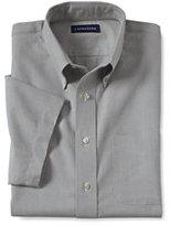 Classic Men's Extra Big Short Sleeve Buttondown Oxford Sport Shirt-Bay Water Breton Stripe