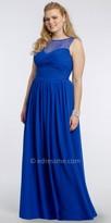 Camille La Vie Illusion Lace Neckline Plus Size Dress