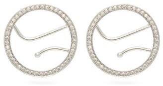 Alan Crocetti - Crystal-embellished Ear Cuffs - Womens - Silver