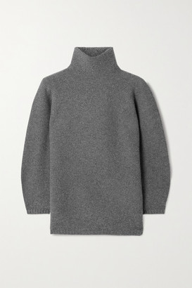 Max Mara Etrusco Wool And Cashmere-blend Turtleneck Sweater - Anthracite