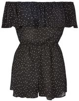 Dot print bardot playsuit