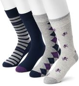Croft & Barrow Men's 3-pack Octopus, Argyle, Striped & Solid Crew Socks