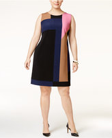 INC International Concepts Plus Size Colorblocked Sheath Dress, Only at Macy's