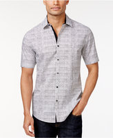 Alfani Slim-Fit Grid-Print Short-Sleeve Shirt, Only at Macy's
