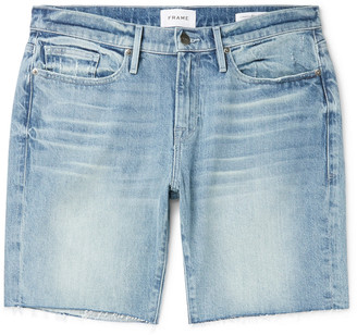 Frame L'homme Frayed Denim Shorts