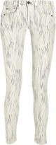 Rag & Bone The Skinny low-rise printed stretch-twill jeans