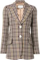 Gucci plaid fitted blazer
