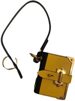 Prada Yellow Leather Bag charms