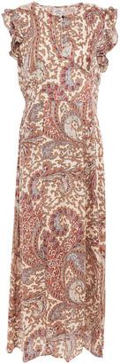 Baum und Pferdgarten Aeron Ruffled Silk-satin Jacquard Midi Dress