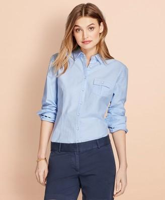 Brooks Brothers Dobby-Dot Cotton Oxford Shirt