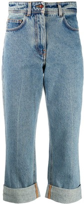 Philosophy di Lorenzo Serafini Ultra High-Waisted Cropped Jeans