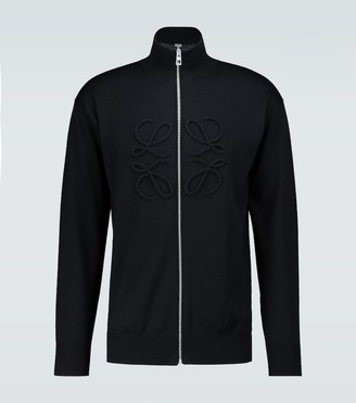 Loewe Anagram stitch zipped sweater
