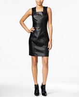 Armani Exchange Faux-Leather Dress