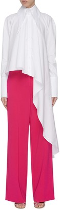 16Arlington 'Rose' elongated collar asymmetric drape shirt