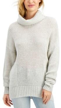 Freshman Juniors' Cowl-Neck Tunic Sweater