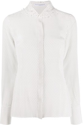 Ermanno Scervino dotted ruffle-neck shirt