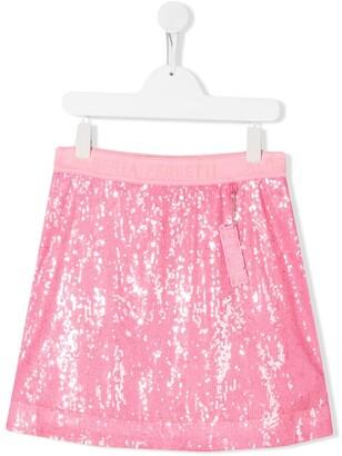 Alberta Ferretti Kids TEEN sequin-embellished mini skirt