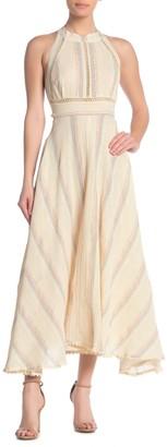 Z&L Europe Striped Open Back Maxi Dress