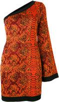 Balmain one-shoulder snake print dress - women - Viscose - 40