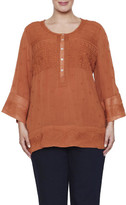 Nouvelle Woman Embroidered Tunic Top