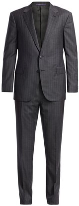 Ralph Lauren Purple Label Greg Pinstripe Wool Suit