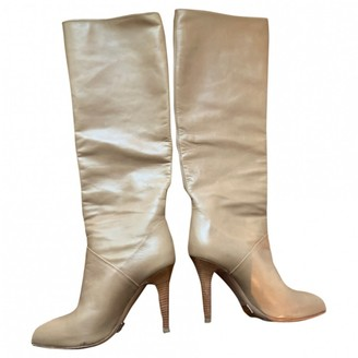 Michael Kors Beige Leather Boots