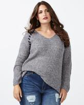 Penningtons d/c JEANS Long Sleeve V-Neck Sweater