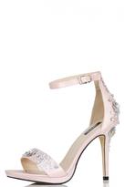 Quiz Pink Satin Sequin Embellished Sandals